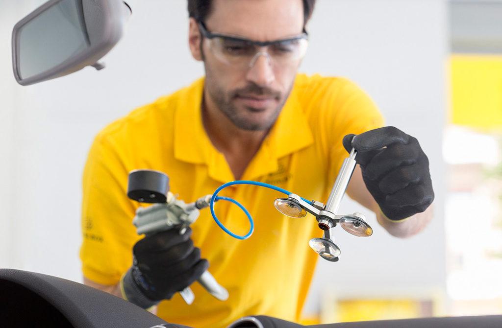 reparación o sustitución de parabrisas