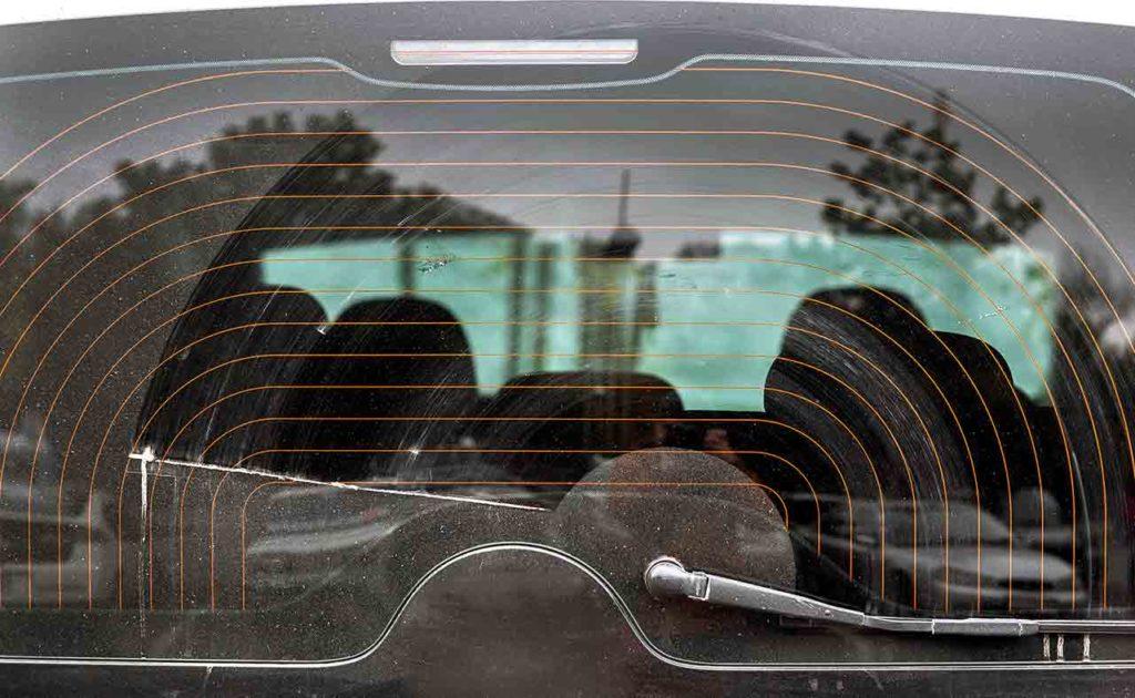 Luneta trasera térmica en un coche