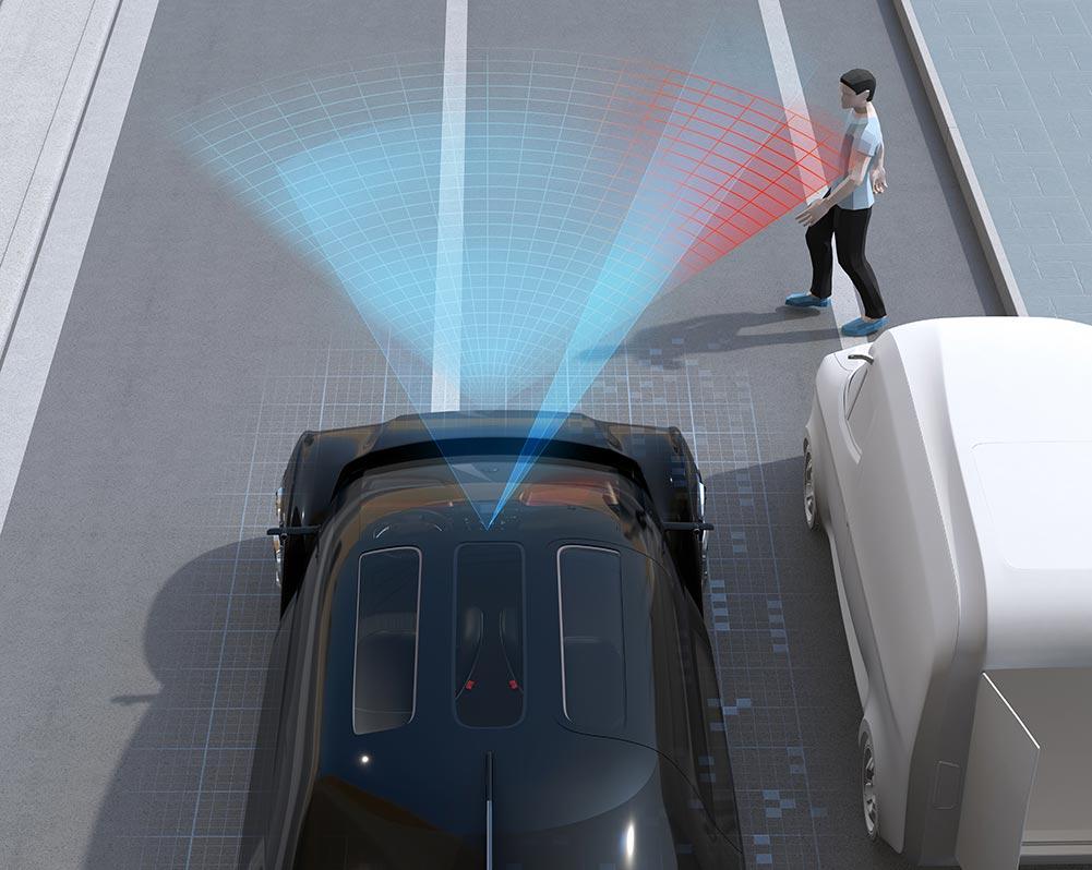 sensores deteccion obstaculos carretera